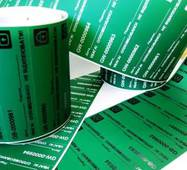 Индикаторные пломбы-наклейки 20х70 мм, зелёная, НЕ оставляет след на объекте купить во Львове