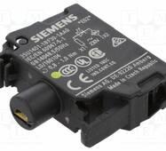 Модуль підсвічування з інтегрованим світлодіодом 230В AC, жовте світло, 3SU1401-1BF30-1AA0, Siemens