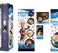 Брендована наклейка на кавовий автомат Saeco Group/Quarzo 500, синій