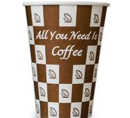 """Бумажный стаканчик для вендинга """"Кофейное зерно"""", 185 мл"""