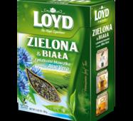 Чай листовой Loyd, зелёный и белый, с алое вера и лепестками васильков, 80 г