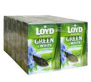 Чай листовой Loyd, зелёный и белый, с алое вера и лепестками васильков, 80 г, 10 уп.