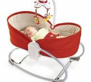 Кресло-кроватка-качель 3в1 Мамина любовь красное