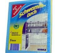 Серветки губчасті Gut & Gunstig Schwammtuch 5 шт Німеччина