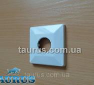 """Біла квадратна декоративна чашка - накладка CUBE 56x56 White (фланець), висота до 10мм; Внутр. під 1/2"""""""