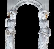 Каминный портал с гипса