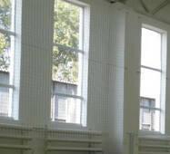 Сетка заградительная (разделительная) капроновая белая для улиц и залов, 50х50, 4,5 мм