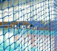 Сетка заградительная (разделительная) капроновая цветная для улиц и залов, 100х100, 3,5 мм