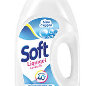 """Гель для прання Активні ензими Soft Detersivo liquido lavatrice """"Blue Oxygen"""" 45 lavaggi, 45пр/2,5л/4ящ"""