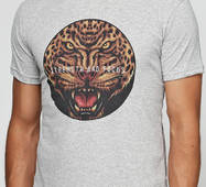 Мужская футболка с принтом Тигры Manatki Меланж M (11510161)