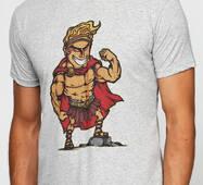 Мужская футболка с принтом Геркуес Manatki Меланж 2XL (11510411)