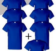 Комплект чоловічих футболок 7 шт Сині Manatki Синій 2xl