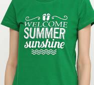 Жіноча футболка з принтом В'єтнамки Manatki Зелений L (11734484)