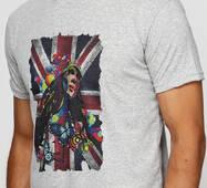 Мужская футболка с принтом Fespa girl Manatki Меланж S (11510176)