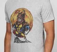 Мужская футболка с принтом Super Monkey Manatki Меланж L (11510235)