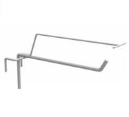 Гачок торговий одинарний з ценникодержателем на сітку (Білий) 150 мм