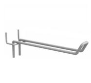 Крючок торговый двойной для перфорированной стенки (Краска) 250 мм