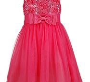 Вечернее платье для девочки  кораллового цвета