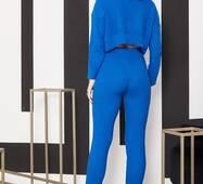 Повсякденний  неоновий костюм синього кольору (синій)
