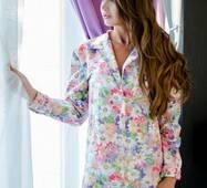 Піжама-сорочка з принтом зірка (мультиколор)