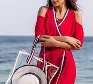 Шифонова туніка з сумкою