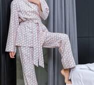 Тепла піжама з принтом