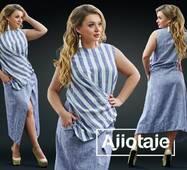 Сукня - 20187 (сірий)