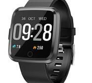 Смарт часы Alfawise Y7- Чёрный  частота сердечных сокращений, давление сердца