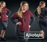 Модний жіночий костюм, батал р. 50,52,54,56 Ajiotaje XL