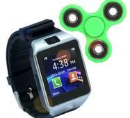 Смарт часы Smart Watch Phone DZ09 Black с Sim картой + Спинер в подарок