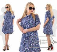 Сукня-сорочка міні з льону жіноче, норма р. S, М, L  Фабрика Моди
