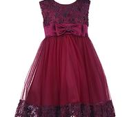 Шикарна вечірня сукня для дівчинки кольору марсала