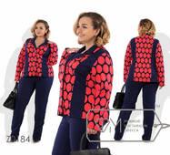 Красивий жіночий костюм, батал р.56-58, 58-60,60-62  Фабрика Моди XXXL