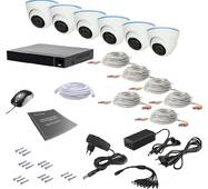 Комплект видеонаблюдения Tecsar AHD 6IN 2MEGA