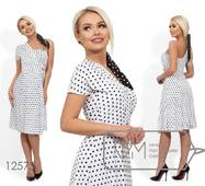 Сукня жіноча в горошок на одно плече, норма р. ONE SIZE  Фабрика Моди