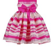 Нарядное платье в полоску для девочки