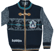 Модна кофта для хлопчика на блискавці, для зимового періоду, Туреччина