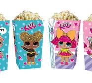 Коробки для сладостей и попкорна куклы Лол (5 штук)