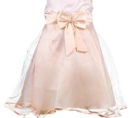 Нарядное платье с золотистой юбкой для маленькой принцессы