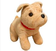Мягкая игрушка Бульдог сидячий маленький 38 см
