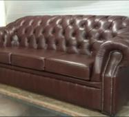 Кожаный диван Виндзор в кабинет