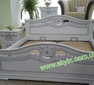 Двоспальне Ліжко Орхідея з масиву дуба