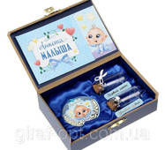 """Шкатулка новорожденного с медалью """"Лучший малыш"""""""