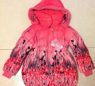 """Пальто """"Квітка"""" з капюшоном, на зростання 130-150 см (у зростання. 3 шт.)"""