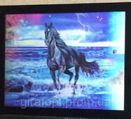 Картина трёхмерна с объёмным эффектом 3D Лошадки