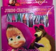 """Цветные карандаши – мелки """"Маша и Медведь"""" (JQ1008)"""