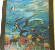 Картина тривимірна Дельфины