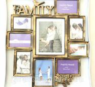 Коллаж Family Big на 9 фото бронза (KH2006-4)