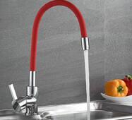 Смеситель для кухни LM4898-1 красный излив купить в розницу