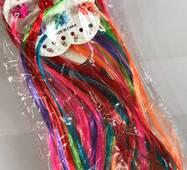 Волосся кольорові на шпильках прямі